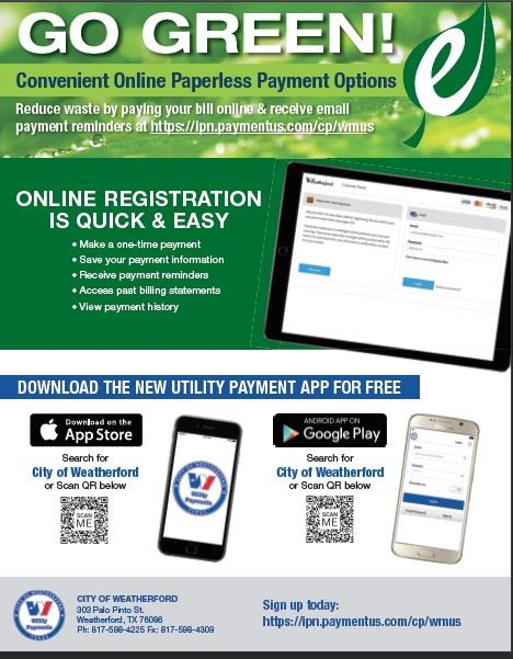Go Green Paperless Billing 052017