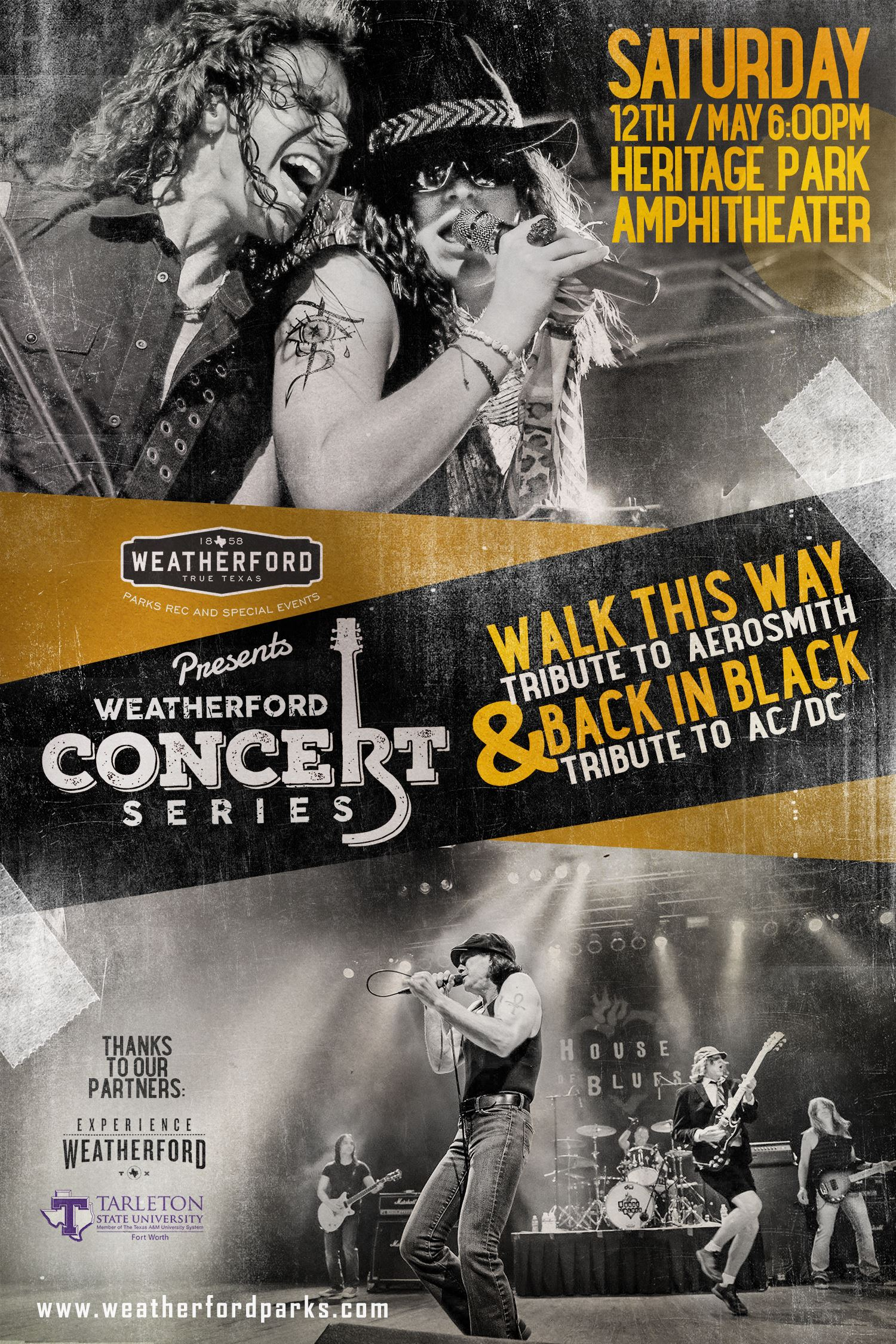 Walk This Way and Back in Black Poster
