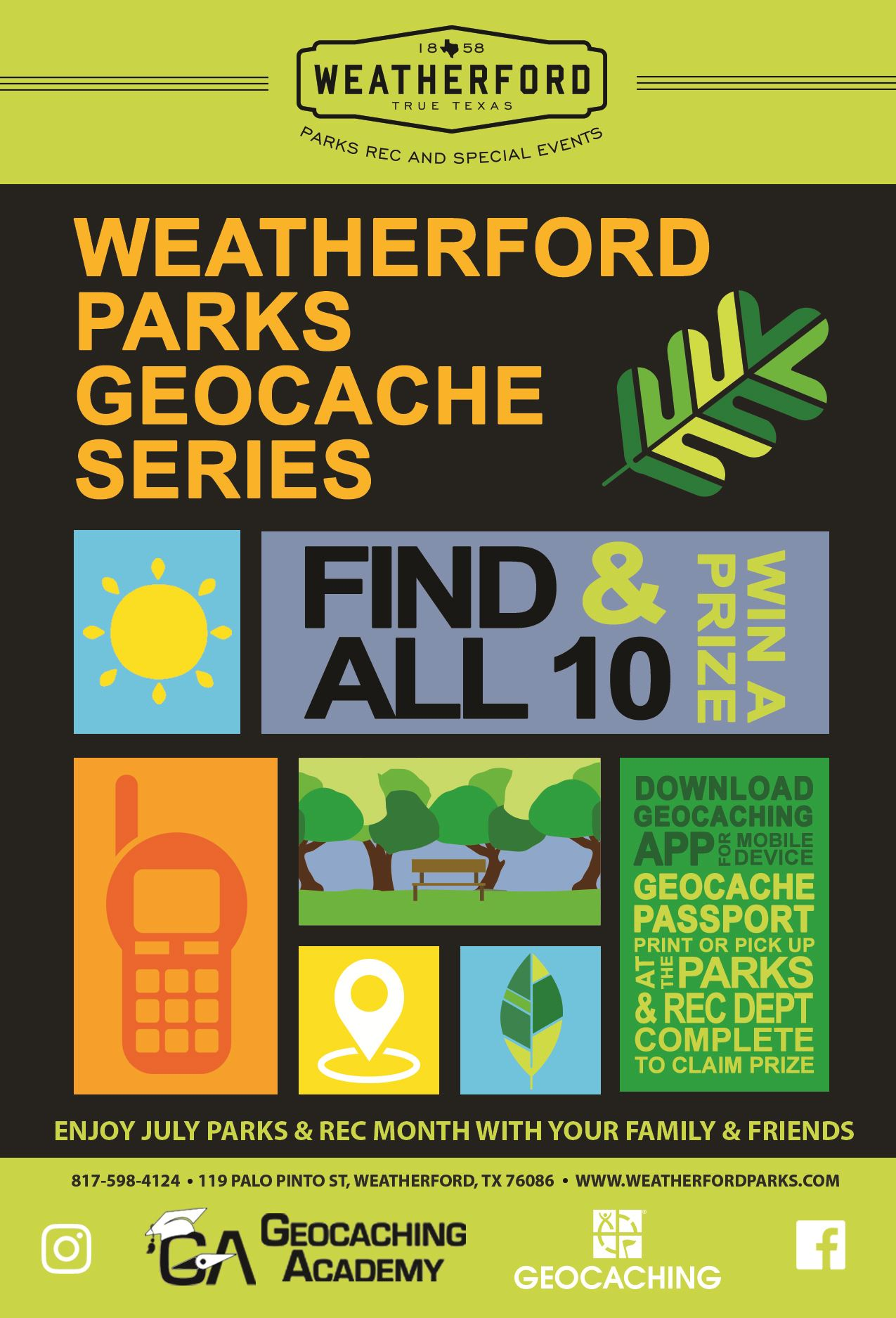 Geocaching Series Flyer 2018
