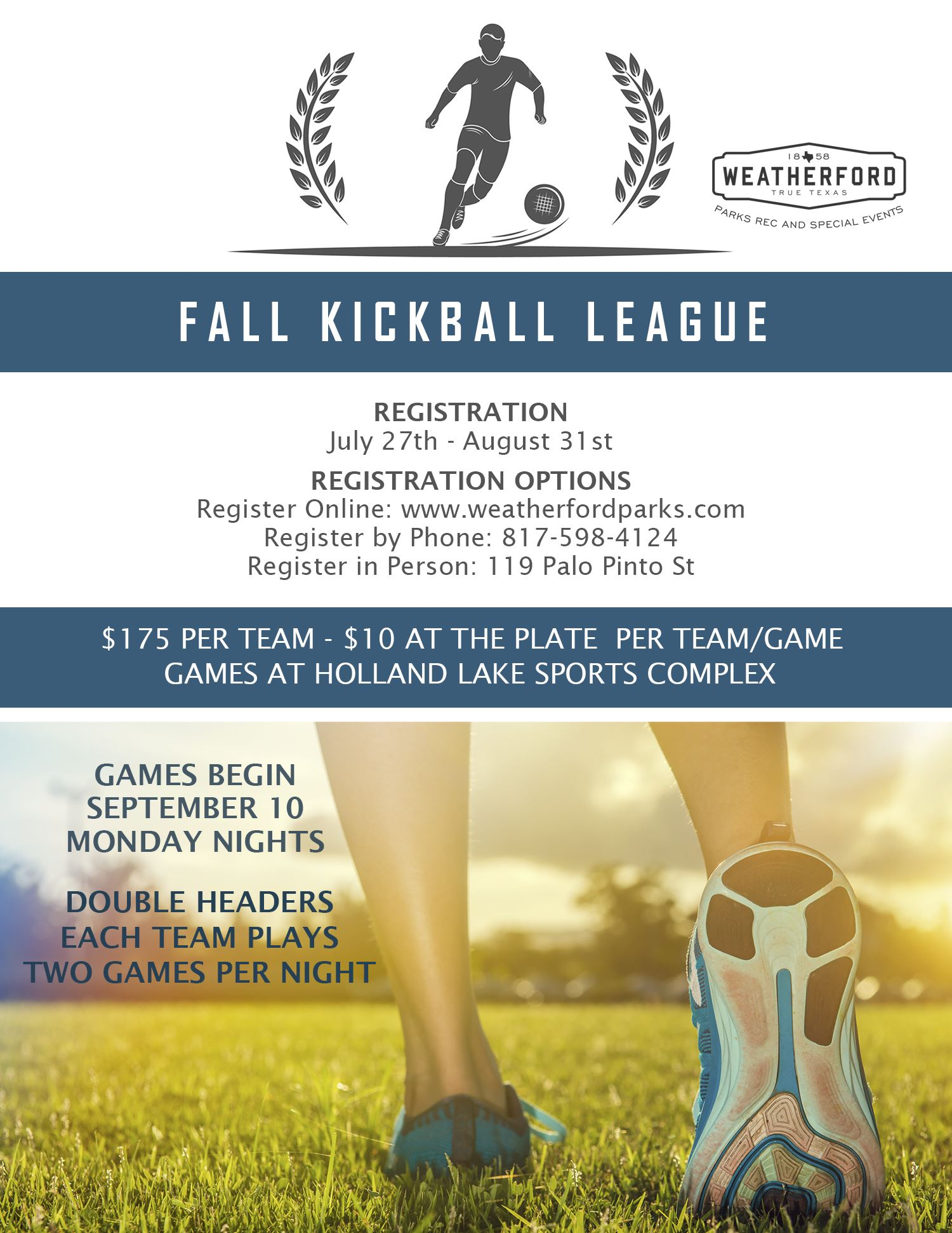 FALL 2018 Kickball Flyer price change