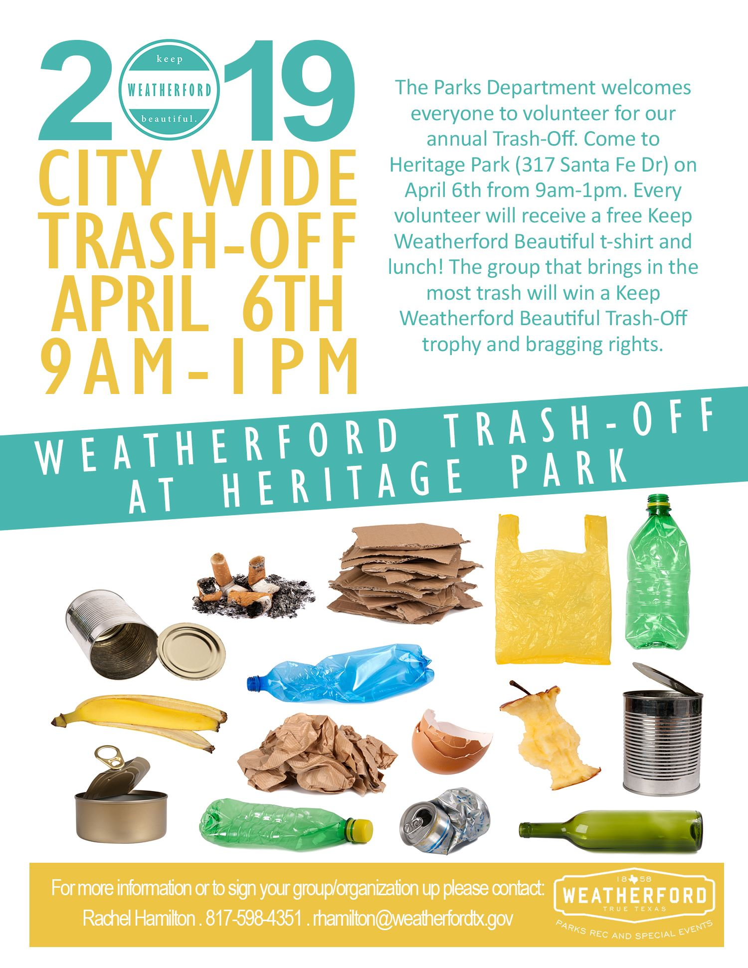 Keep Weatherford Beautiful Flyer 2019