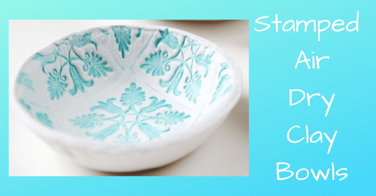 Stamped Air Dry Clay Bowls Image