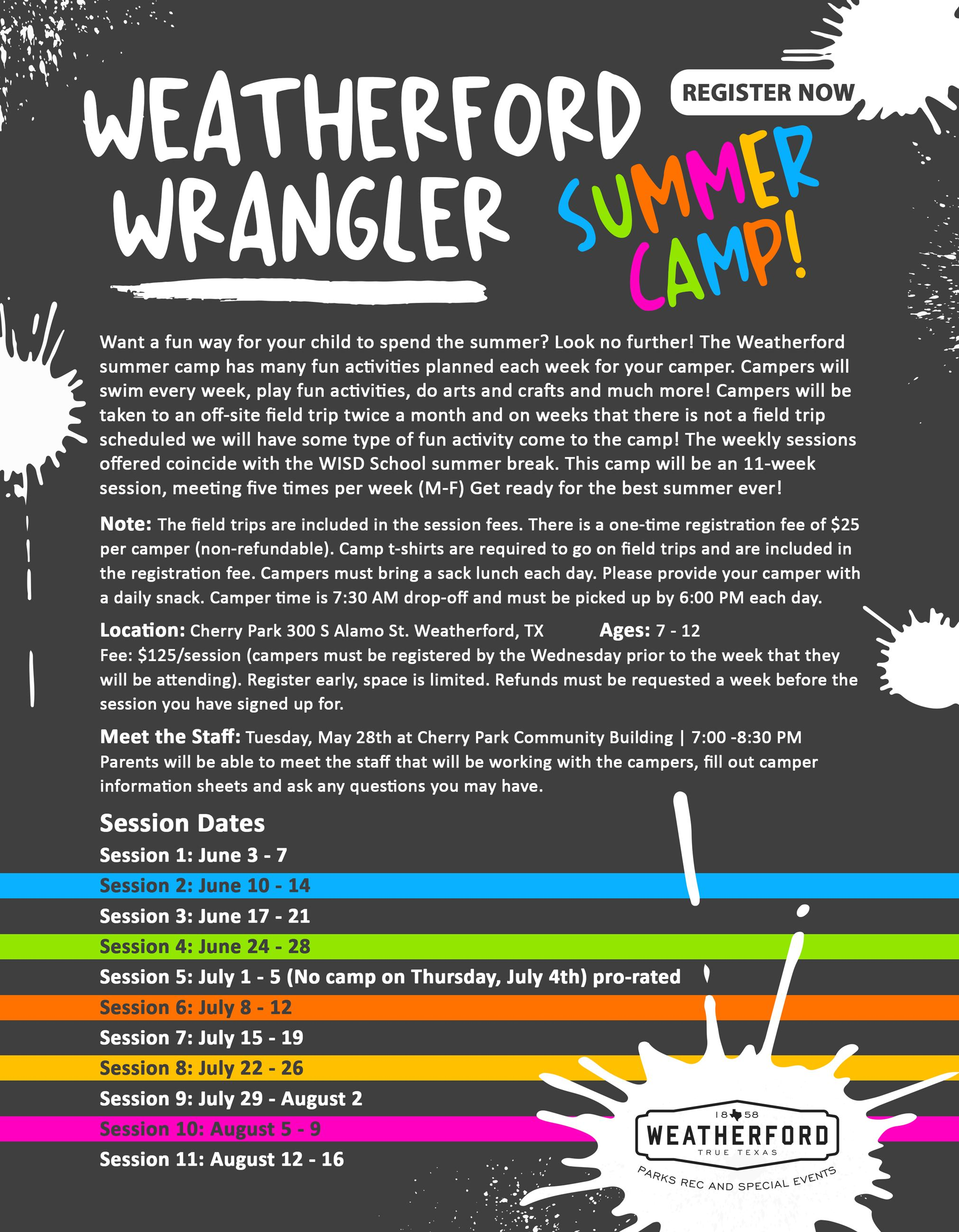 2019 Weatherford Wrangler Summer Camp