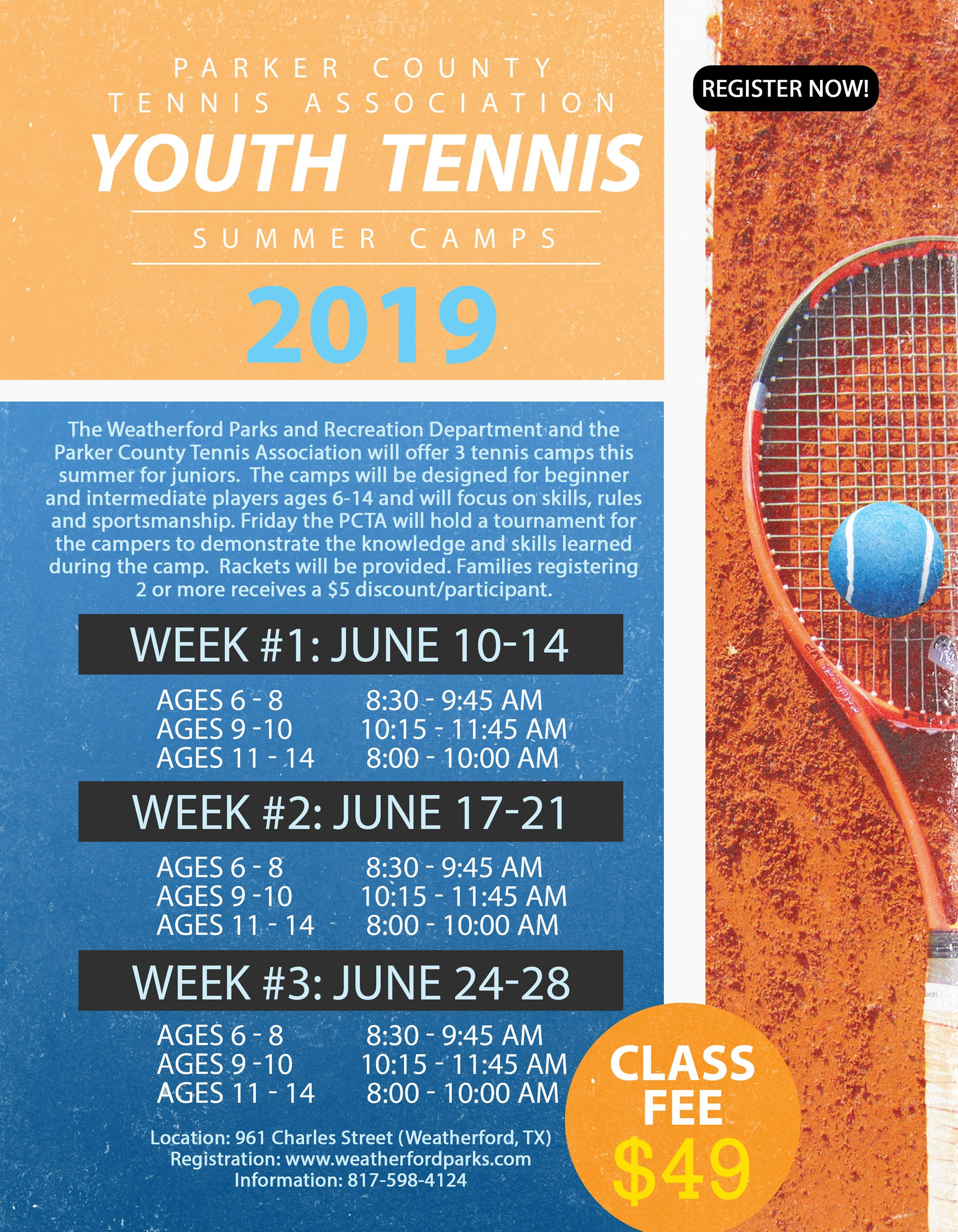 Youth Tennis | Weatherford, TX - Official Website