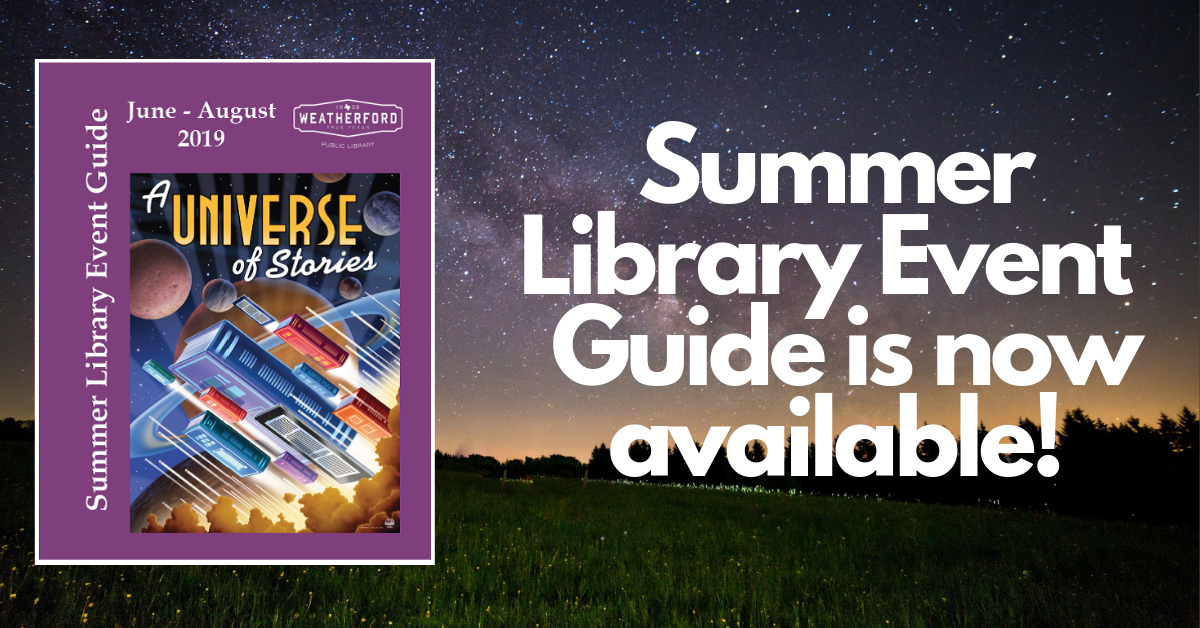 Summer Library Event Guide 2019 - Click to download PDF.
