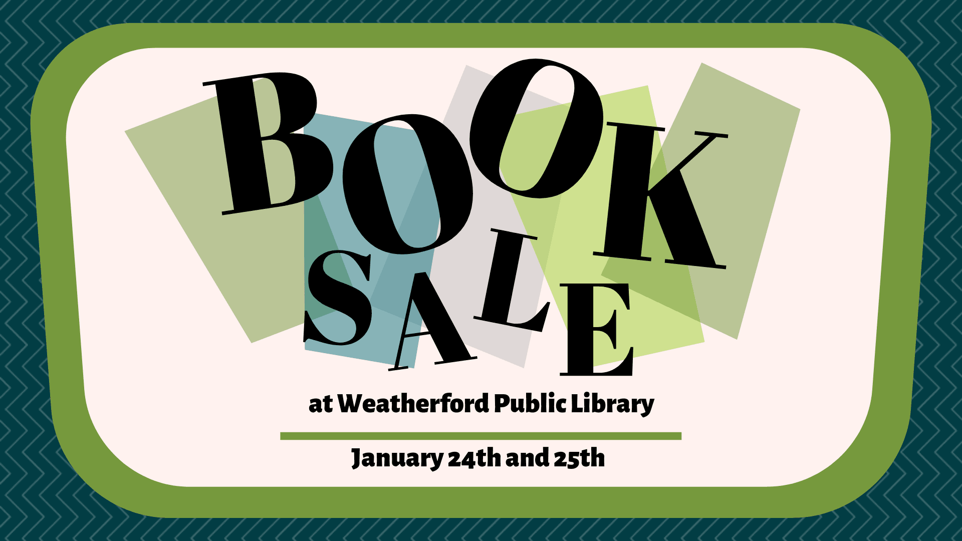 Book Sale January 2020 graphic