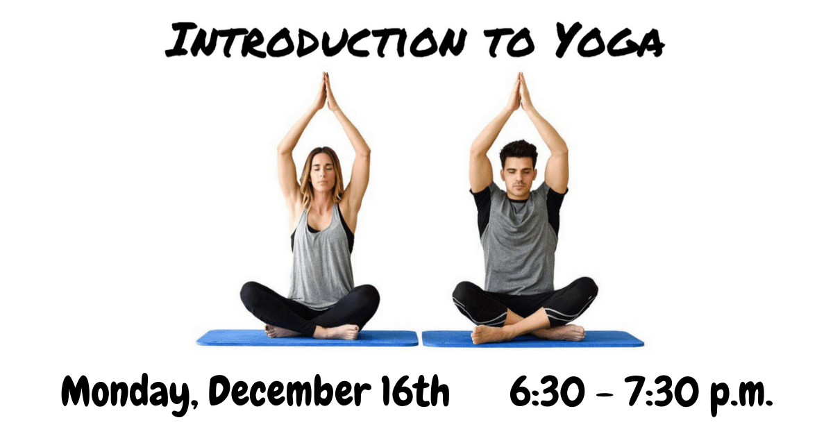 Introduction to Yoga December Carousel Image - Click for more information.