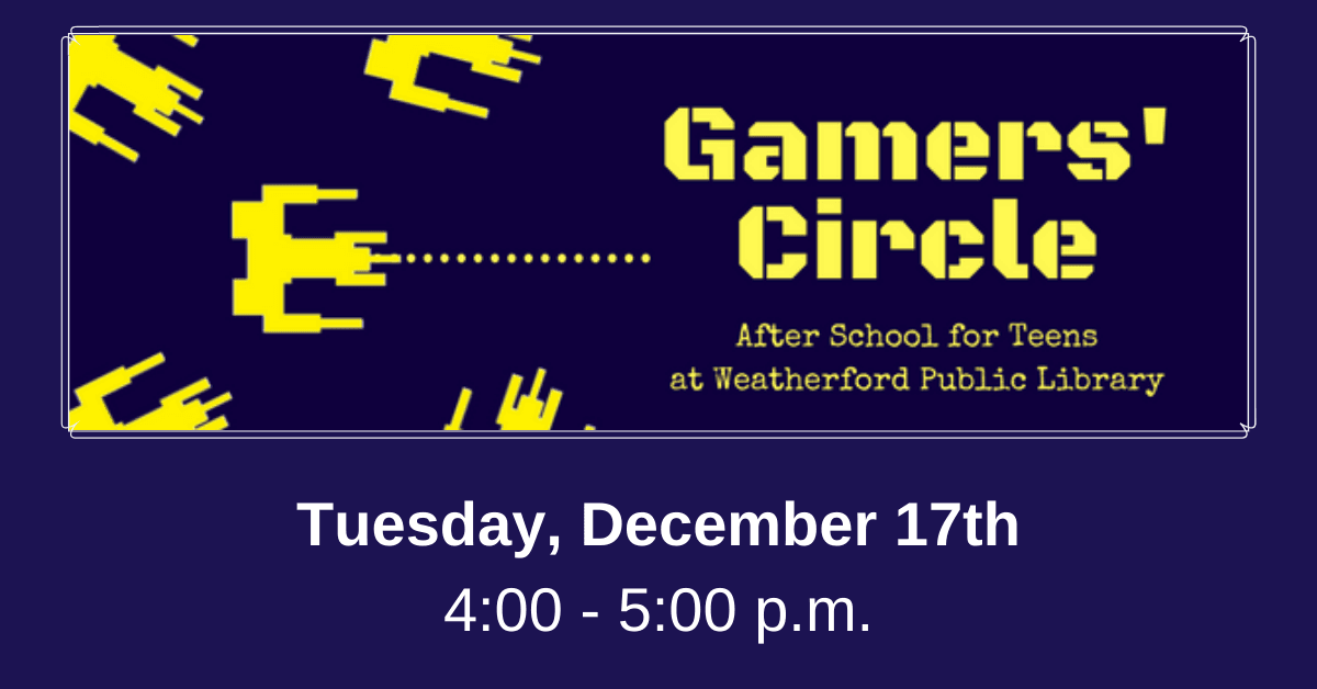 After School for Teens - Gamers' Circle December Carousel Image - Click for more information.