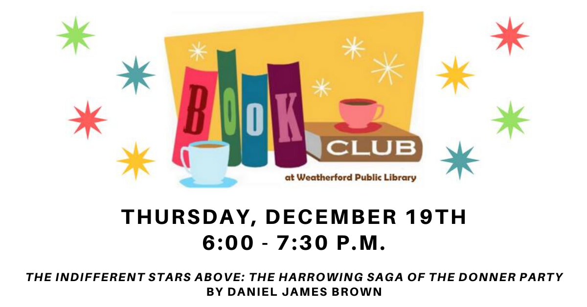 Book Club December Carousel Image - Click for more information.