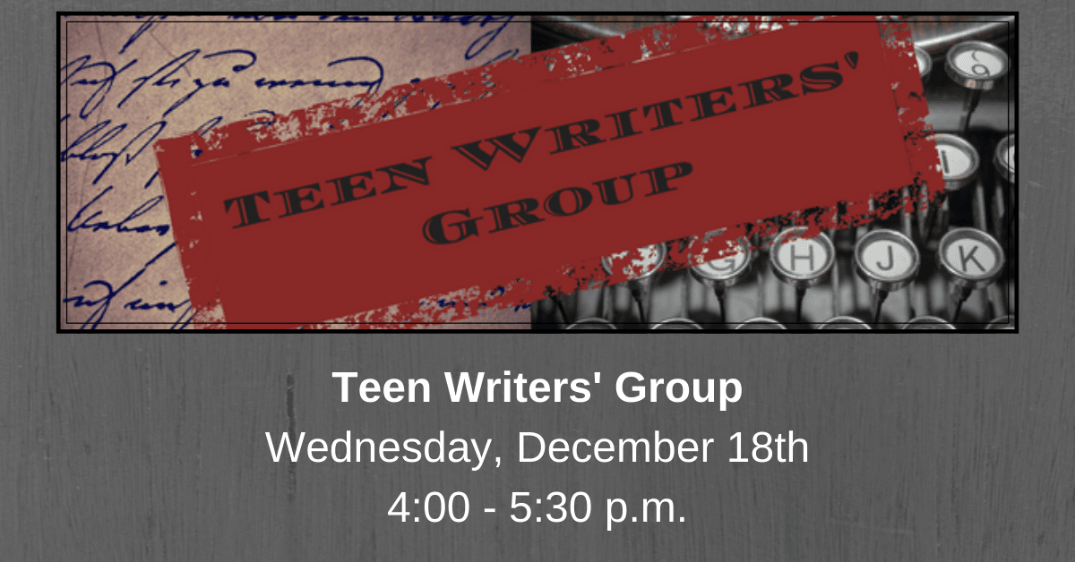 Teen Writers' Group - December Carousel Image - Click for more information.