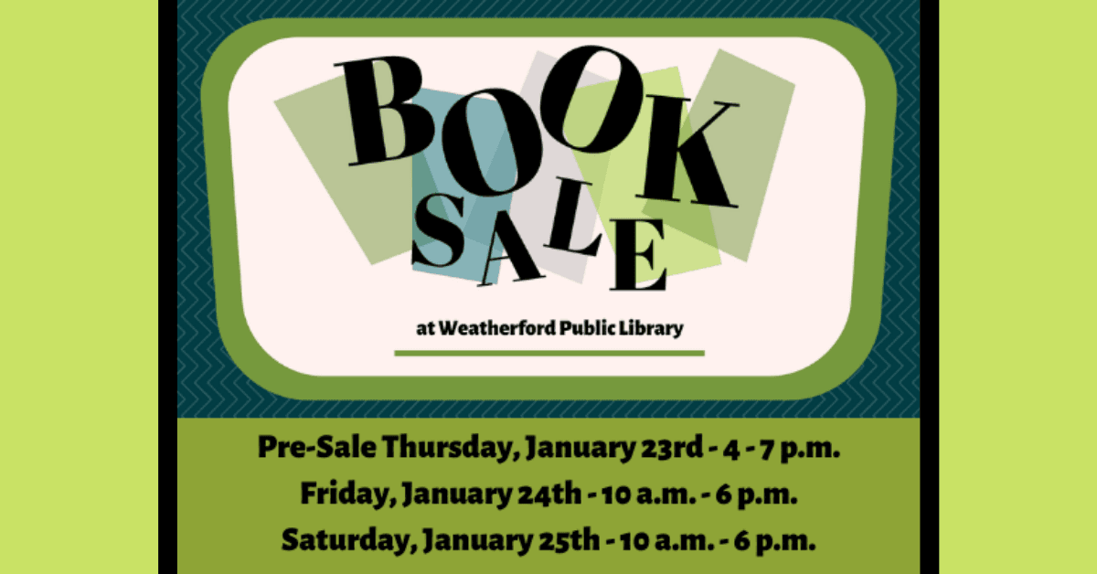 WPL Book Sale January 2020 Carousel Image - Click for more information.