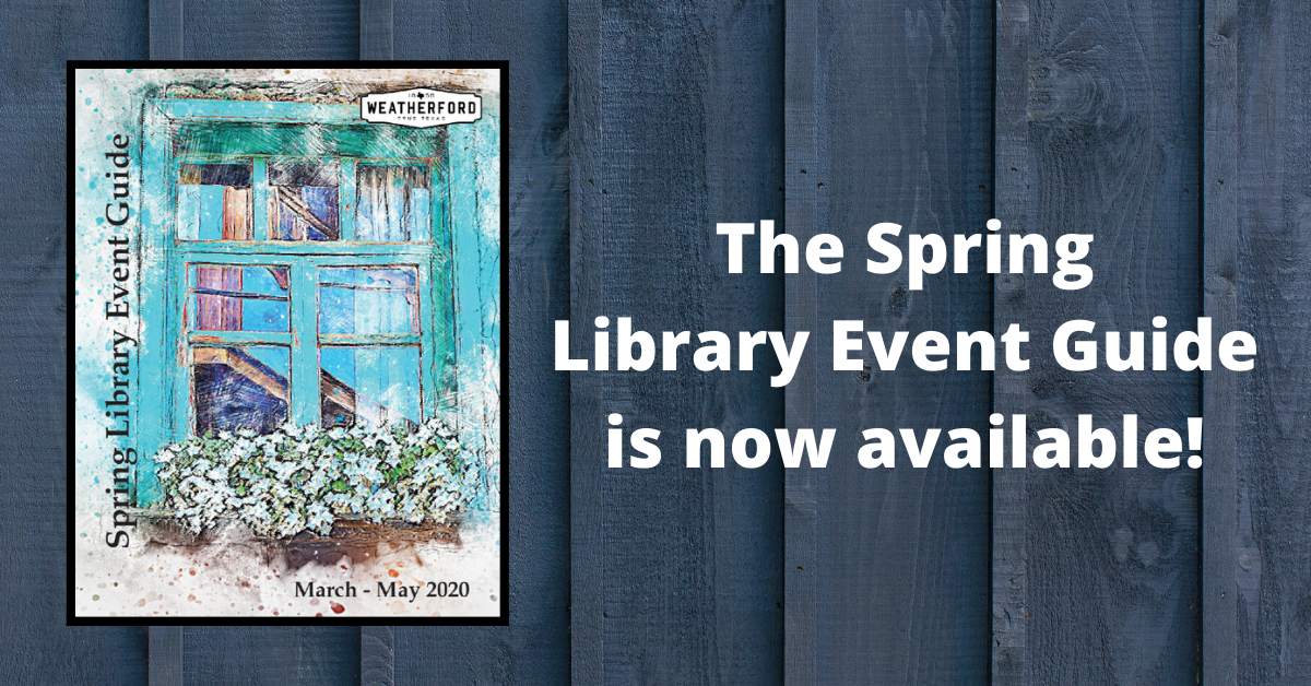 Library Spring Event Guide 2020 Carousel Image - Click to see guide.