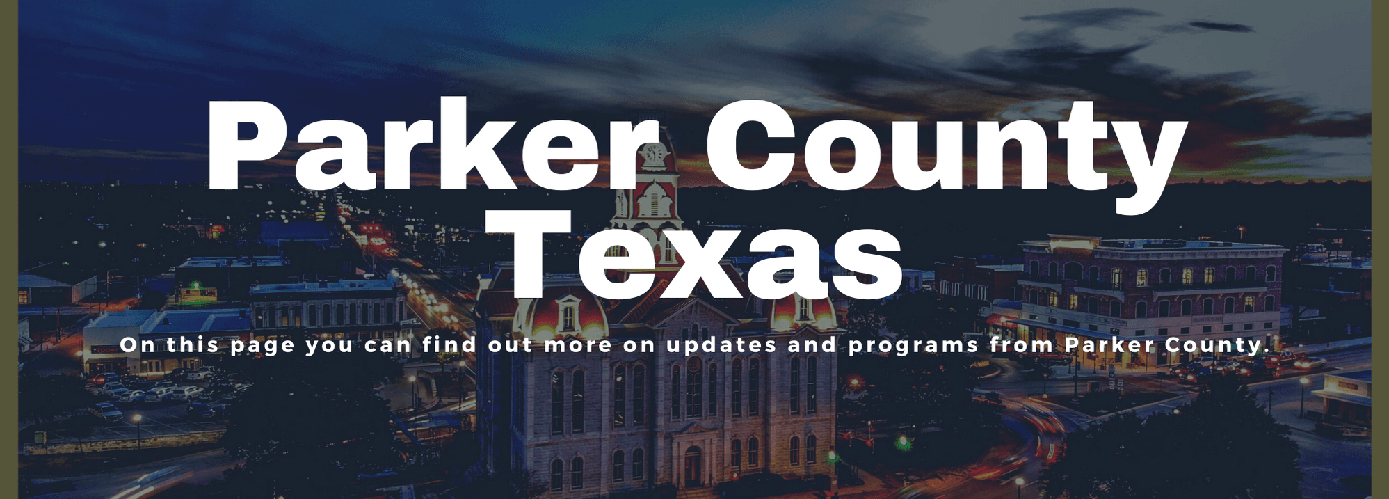 Parker County for Website Banner