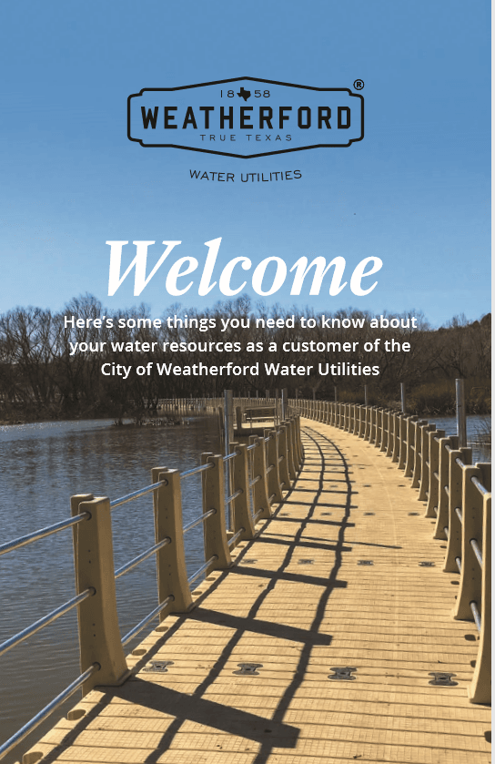 Water Utilities Welcome/Info Booklet