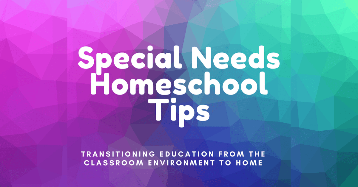 Special Needs Homeschool Tips Event Image
