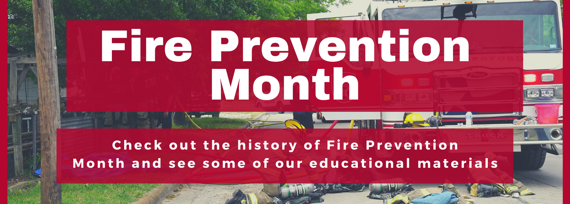 Fire Prevention Month - website banner