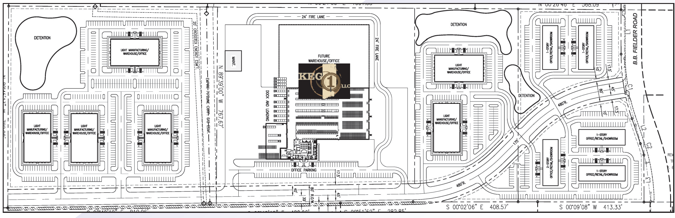 Weatherford Corporate Center Aerial Site Plan
