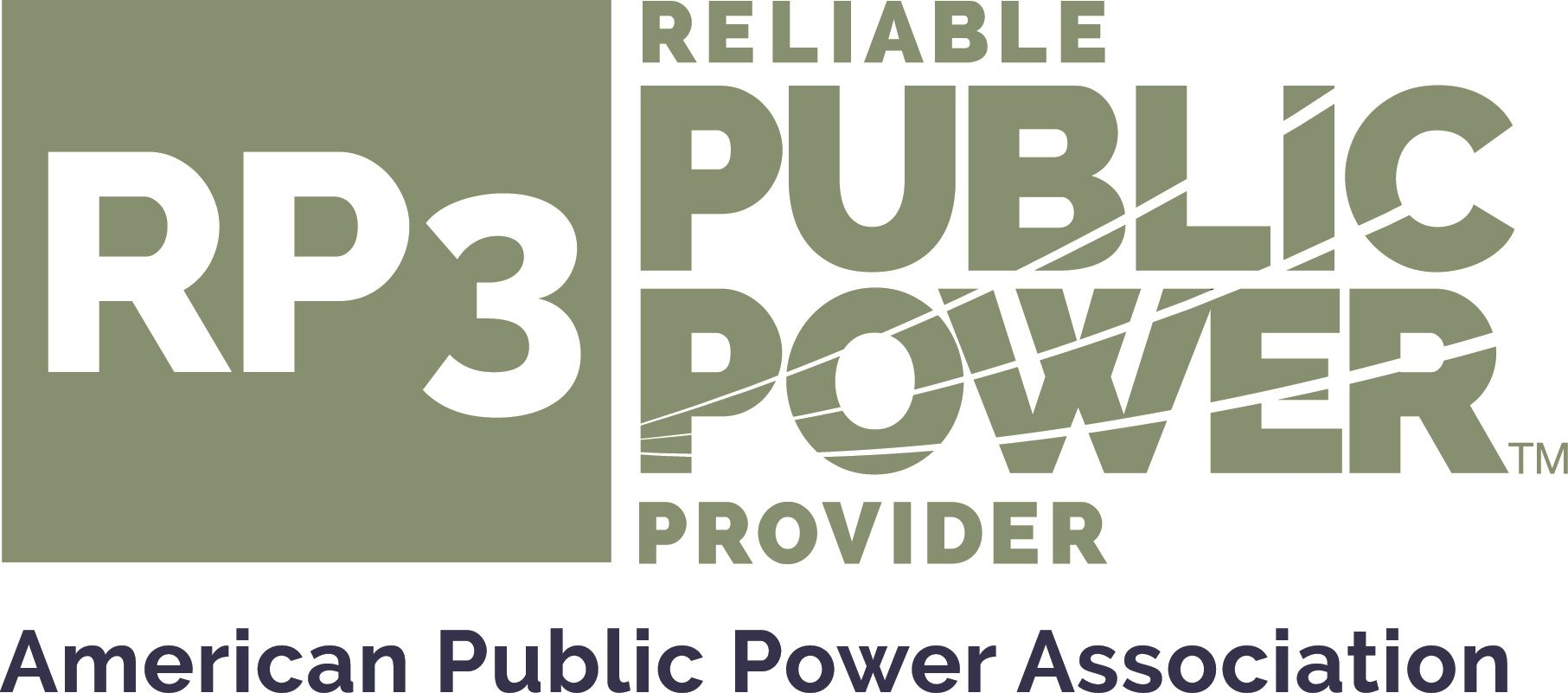 RP3 (Reliable Public Power) logo - Full Color Logo