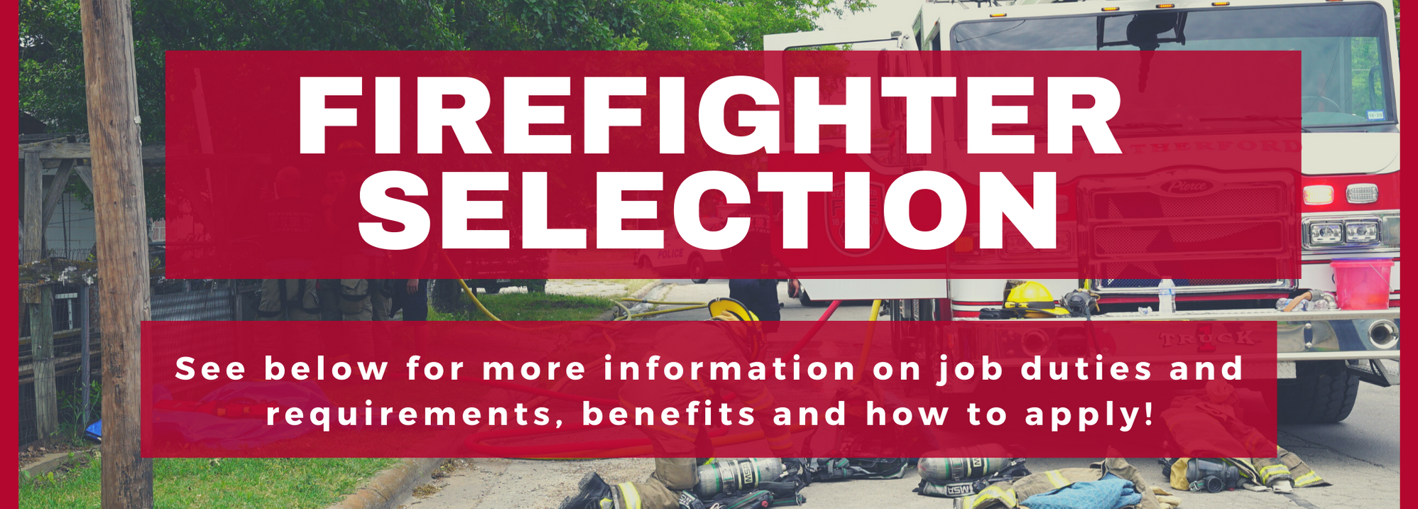 Firefighter Selection - WFD - website banner