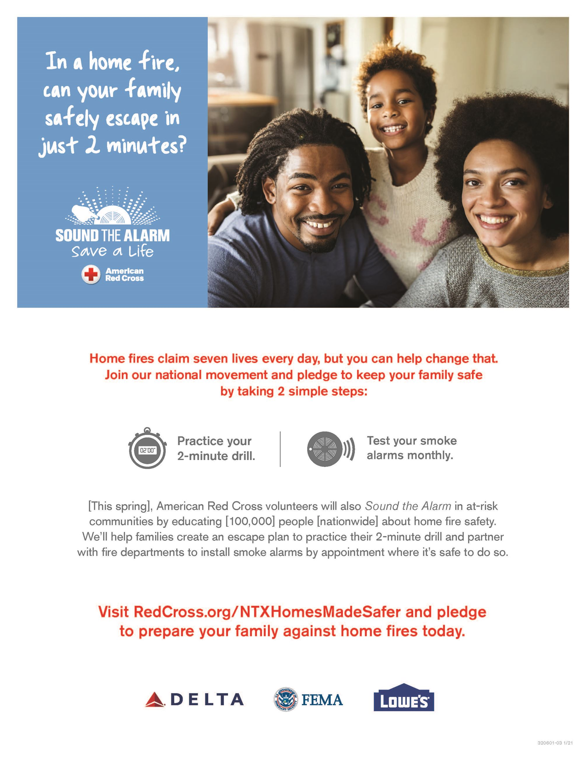 Sound the Alarm Flyer - American Red Cross