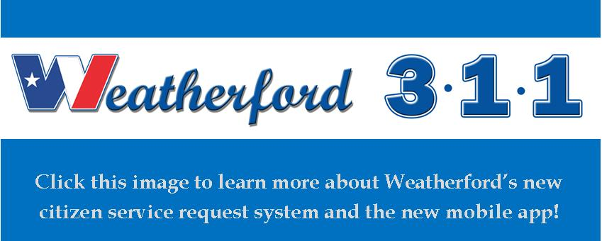 Weatherford 311 Service Request Logo and Link